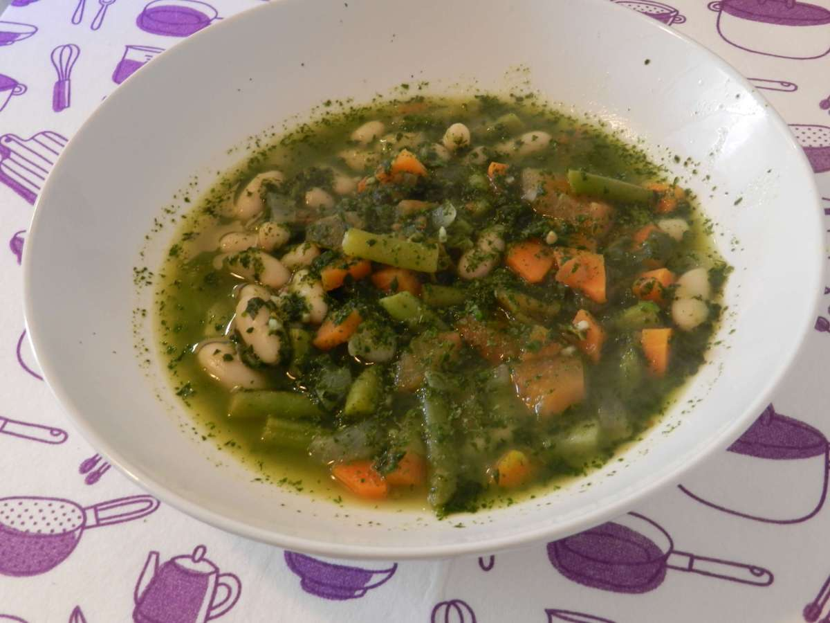 Parmesan-Spinat-Suppe