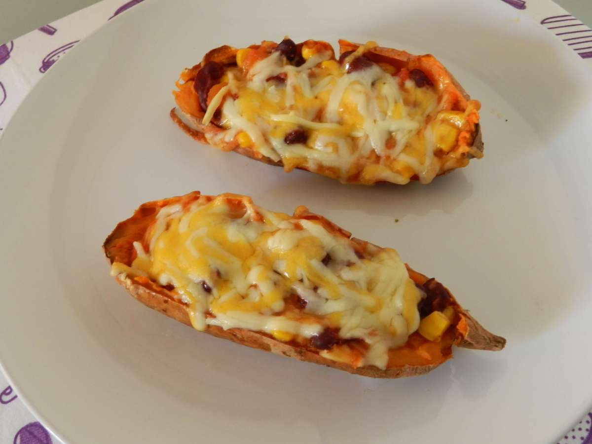 Enchilada Süßkartoffeln