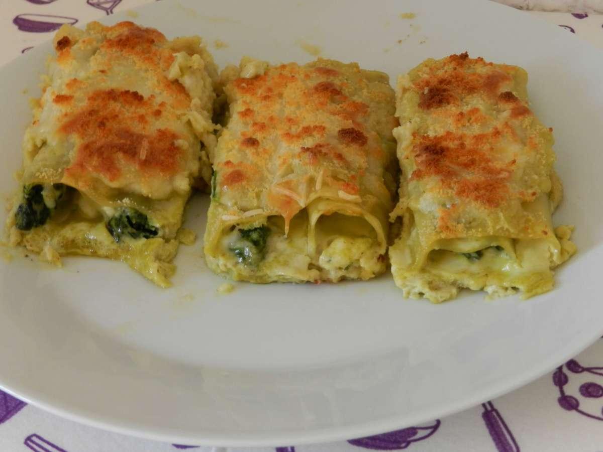 Lasagne-Pesto-Röllchen
