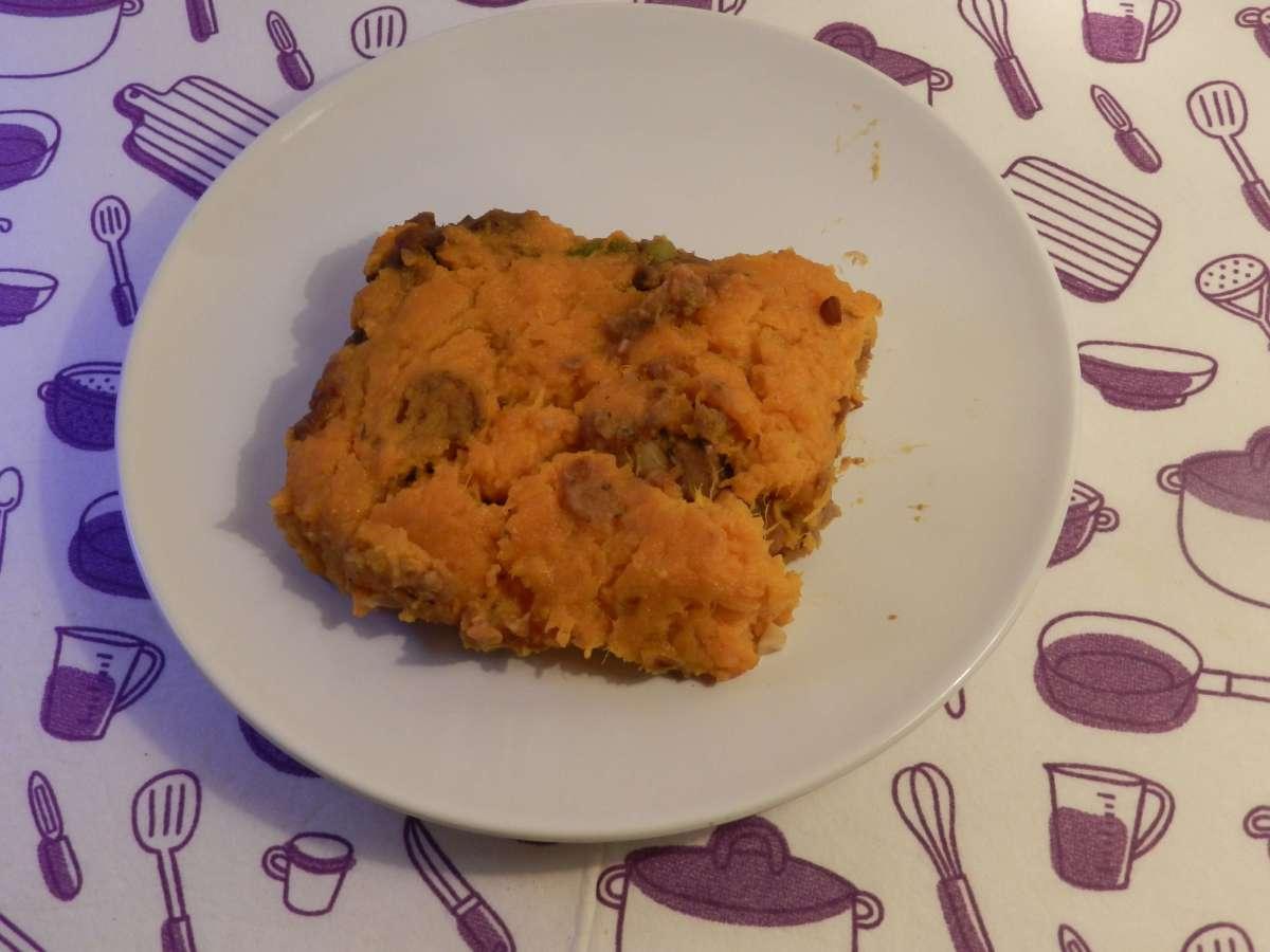 Vegetarischer Sheperd's Pie mitSüßkartoffeln