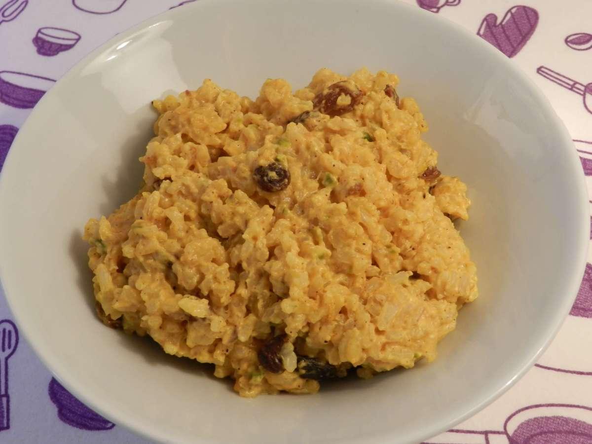 Gebratener Reis mit Joghurt-Limetten-Soße